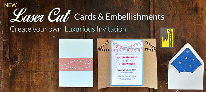 New Laser Cut Cards & Embellishments, Create your own luxurious invitations