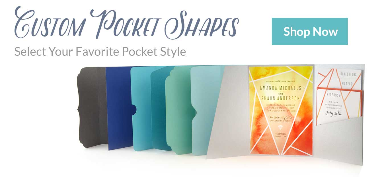 Custom DYO Pocket Invitation Shapes