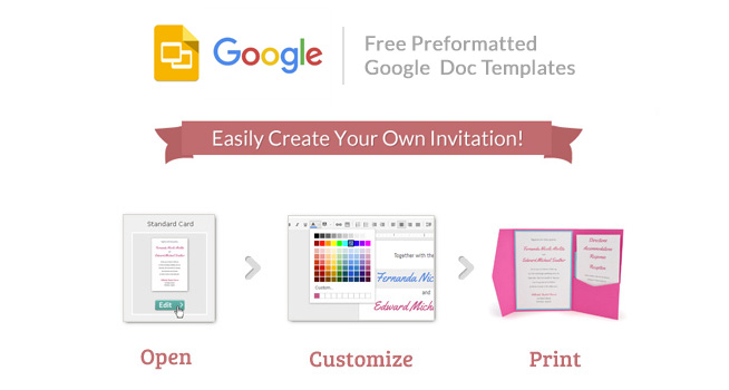 Free Google Invitation Templates. Easily Create Your Own Invitation!    Open, Customize, Print  Free Invitation Templates