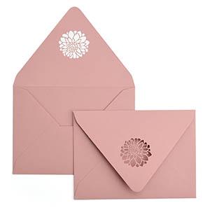 Dahlias A7 Laser Cut Envelope