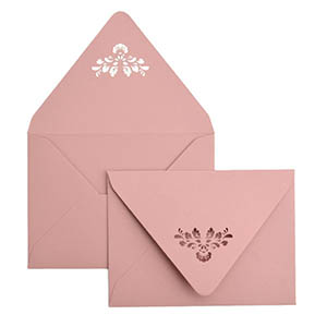 Damask Laser Cut Envelope