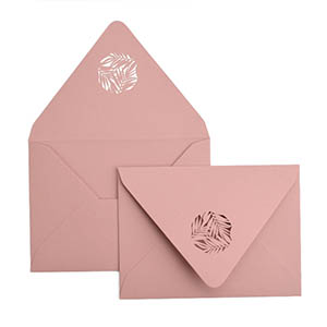 Greenery Laser Cut Envelope