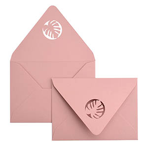 Tropical Laser Cut Envelope
