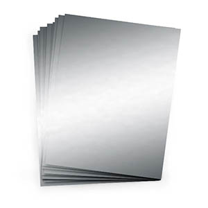 Mirror Silver Mirror 8 1 2 X 11 Cardstock Single Sheet
