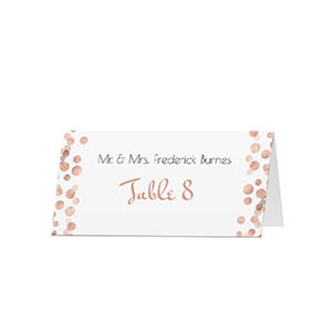 glitter dots custom folded place cards 25 pack - Folded Place Cards