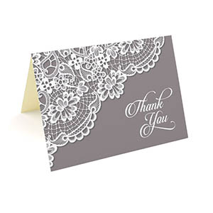 folded thank you cards 3 5x5 25 pack doily