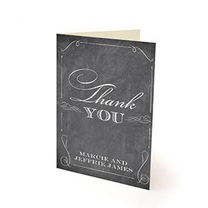 elegant chalkboard thank you cards 25 pack