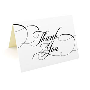 folded thank you cards 35x5 25 pack formal
