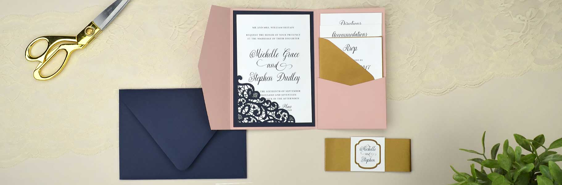 Wedding Invitations - Cards & Pockets