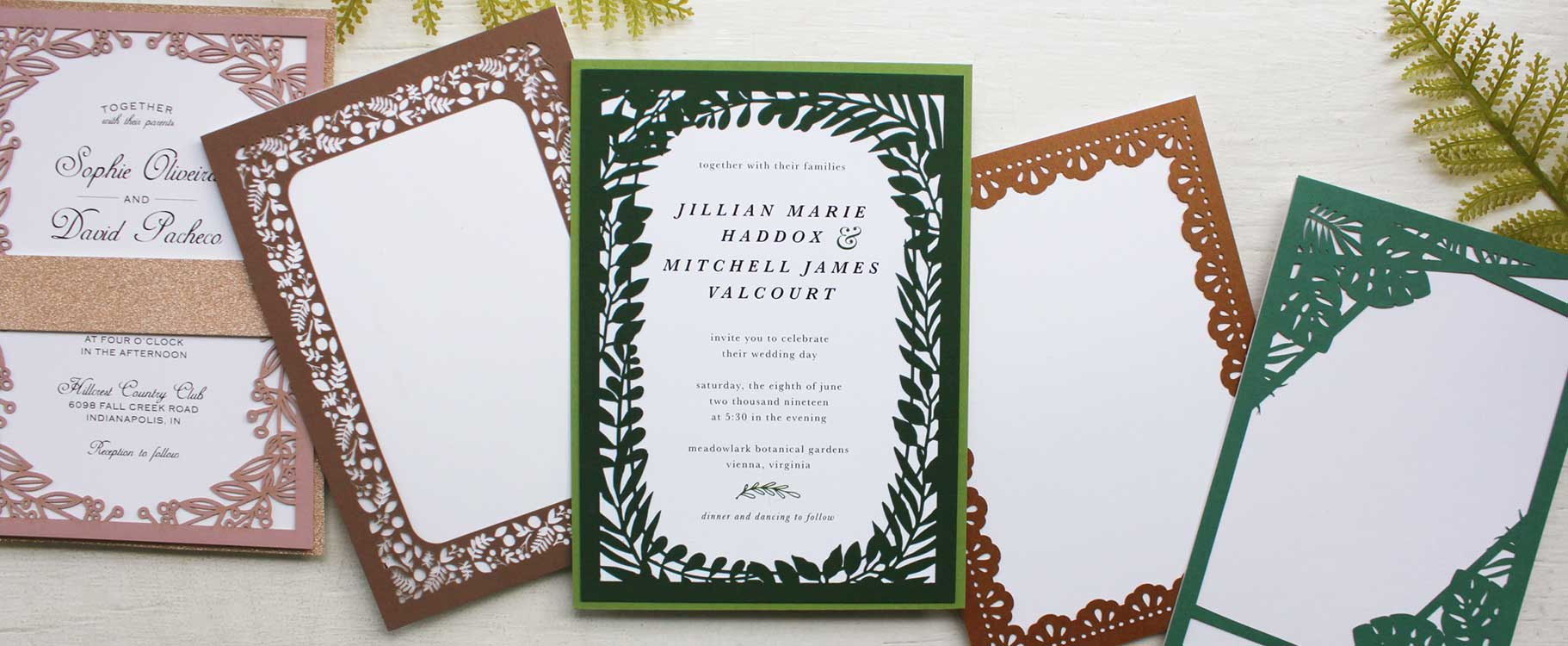 431f0d056b Highlight your wedding invitation theme with a custom laser cut frame.