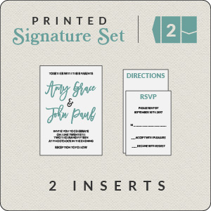 Print Your Own Design Signature (2 Inserts)