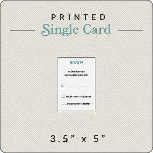 print your own design 3 5x5 rsvp flat card