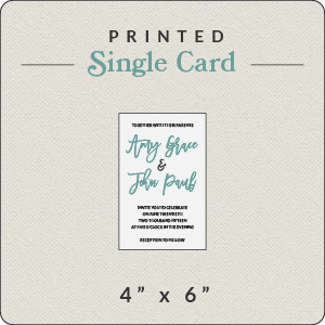 print your own design 4x6 flat card