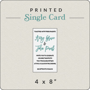 print your own design 4x8 flat card