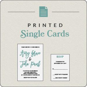 Printed Single Cards