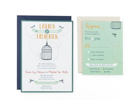 Bird cage free wedding invitation template stopboris Gallery