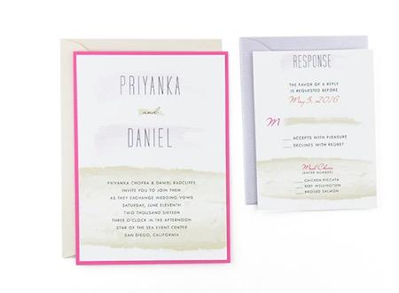 Brush strokes free wedding invitation template stopboris Images