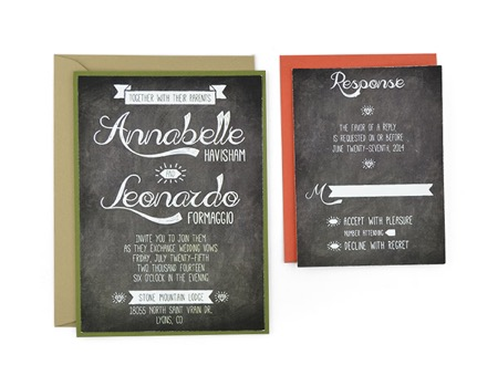 Chalkboard -Free Wedding Invitation Template