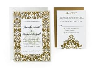damask free wedding invitation template - Free Wedding Invitations Templates