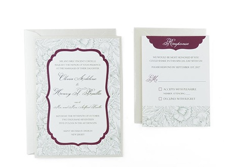 Elegant Floral Free Wedding Invitation Template - His and hers wedding invitation templates