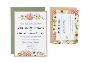 floral free wedding invitation template