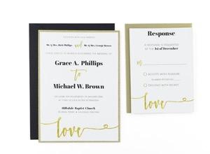 Cards and Pockets - Free Wedding Invitation Templates