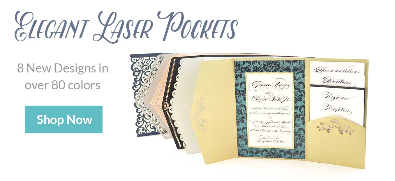 Elegant Laser Cut Pockets
