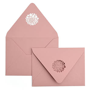 Dahlias A7 Laser Cut Envelope