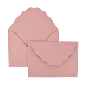French Scalloped A7 Laser Cut Envelope