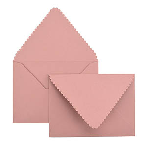 Scalloped A7 Laser Cut Envelope