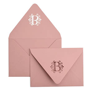 Monogram Seal A7 Laser Cut Envelope