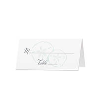Beachy - Blank Folded Place Cards