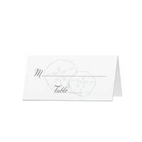 Beachy - Blank Folded Place Cards