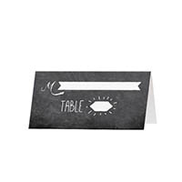 Chalkboard - Blank Folded Place Cards