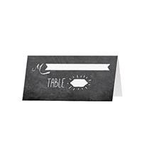 Chalkboard - Blank Folded Place Cards
