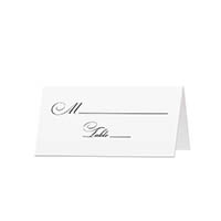 Classy - Blank Folded Place Cards