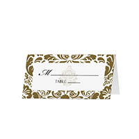 Damask - Blank Folded Place Cards
