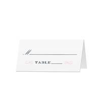 Elegant Swirls - Blank Folded Place Cards