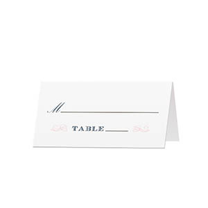 Elegant Swirls - Blank Folded Place Cards