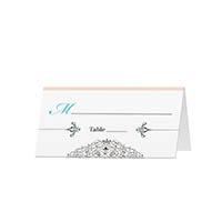 Embellished - Blank Folded Place Cards