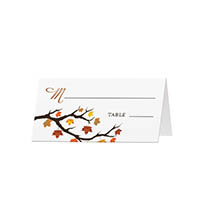 Fall Leaves - Blank Folded Place Cards
