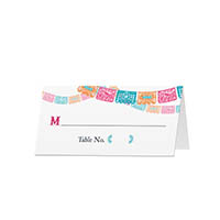 Fiesta - Blank Folded Place Cards
