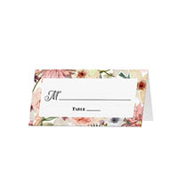 Floral - Blank Folded Place Cards