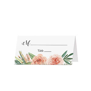 Flower Bouquet  - Blank Folded Place Cards