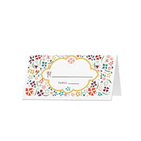 Flower Tin - Blank Folded Place Cards