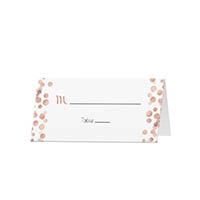 Glitter Dots - Blank Folded Place Cards