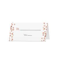 Glitter Dots - Blank Folded Place Cards