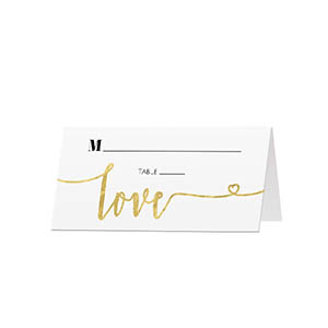 Glitter Love - Blank Folded Place Cards