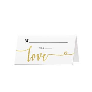 Glitter Love - Blank Folded Place Cards