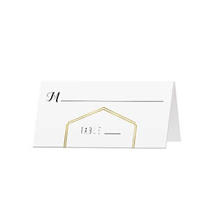 Gold Lines - Blank Folded Place Cards